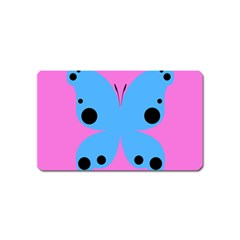Pink Blue Butterfly Animals Fly Magnet (name Card)