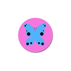 Pink Blue Butterfly Animals Fly Golf Ball Marker (4 Pack)