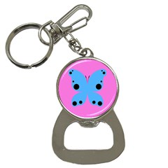 Pink Blue Butterfly Animals Fly Button Necklaces by Alisyart
