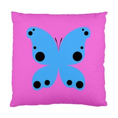 Pink Blue Butterfly Animals Fly Standard Cushion Case (one Side)
