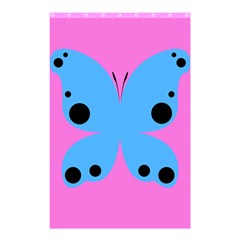 Pink Blue Butterfly Animals Fly Shower Curtain 48  X 72  (small)  by Alisyart