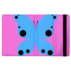 Pink Blue Butterfly Animals Fly Apple Ipad 2 Flip Case