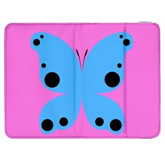 Pink Blue Butterfly Animals Fly Samsung Galaxy Tab 7  P1000 Flip Case