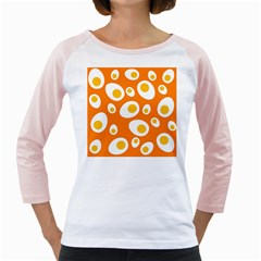 Orange Circle Egg Girly Raglans