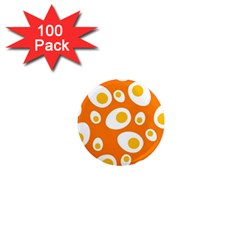 Orange Circle Egg 1  Mini Magnets (100 Pack)