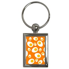 Orange Circle Egg Key Chains (rectangle)