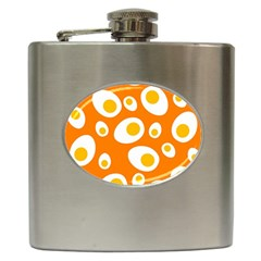 Orange Circle Egg Hip Flask (6 Oz)