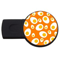 Orange Circle Egg Usb Flash Drive Round (2 Gb) by Alisyart