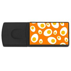 Orange Circle Egg Usb Flash Drive Rectangular (4 Gb)