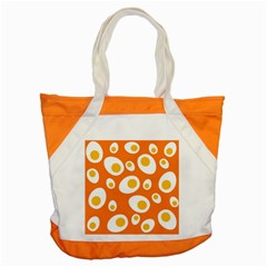 Orange Circle Egg Accent Tote Bag