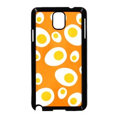 Orange Circle Egg Samsung Galaxy Note 3 Neo Hardshell Case (black) by Alisyart