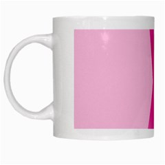 Pink Breast Cancer Symptoms Sign White Mugs by Alisyart