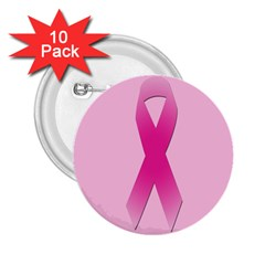 Pink Breast Cancer Symptoms Sign 2 25  Buttons (10 Pack)  by Alisyart