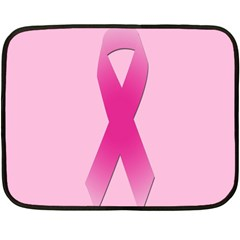 Pink Breast Cancer Symptoms Sign Fleece Blanket (mini) by Alisyart