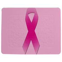 Pink Breast Cancer Symptoms Sign Jigsaw Puzzle Photo Stand (rectangular)
