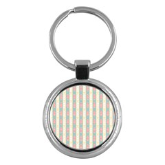 Rabbit Eggs Animals Pink Yellow White Rd Blue Key Chains (round)  by Alisyart
