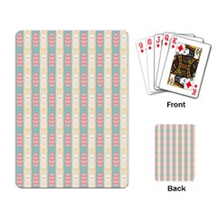 Rabbit Eggs Animals Pink Yellow White Rd Blue Playing Card