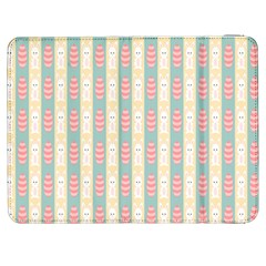 Rabbit Eggs Animals Pink Yellow White Rd Blue Samsung Galaxy Tab 7  P1000 Flip Case