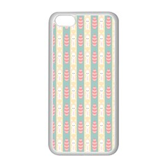 Rabbit Eggs Animals Pink Yellow White Rd Blue Apple Iphone 5c Seamless Case (white)