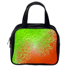 Plaid Green Orange White Circle Classic Handbags (one Side) by Alisyart