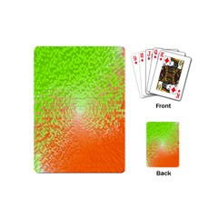Plaid Green Orange White Circle Playing Cards (mini)