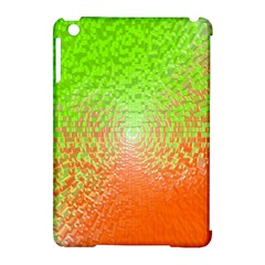 Plaid Green Orange White Circle Apple Ipad Mini Hardshell Case (compatible With Smart Cover) by Alisyart