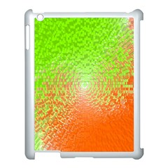 Plaid Green Orange White Circle Apple Ipad 3/4 Case (white)