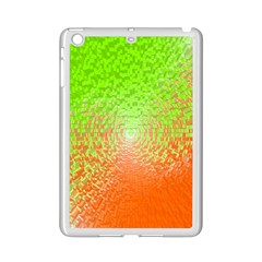 Plaid Green Orange White Circle Ipad Mini 2 Enamel Coated Cases