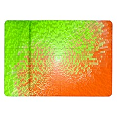Plaid Green Orange White Circle Samsung Galaxy Tab 10 1  P7500 Flip Case