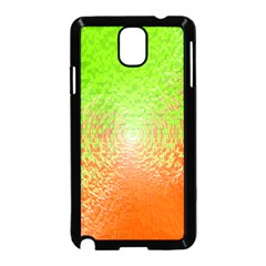 Plaid Green Orange White Circle Samsung Galaxy Note 3 Neo Hardshell Case (black) by Alisyart