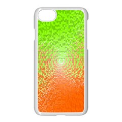 Plaid Green Orange White Circle Apple Iphone 7 Seamless Case (white) by Alisyart