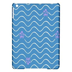 Springtime Wave Blue White Purple Floral Flower Ipad Air Hardshell Cases by Alisyart