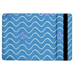 Springtime Wave Blue White Purple Floral Flower Ipad Air Flip by Alisyart