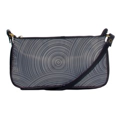 Circular Brushed Metal Bump Grey Shoulder Clutch Bags by Alisyart