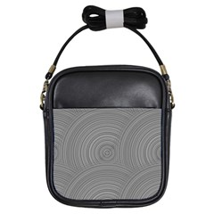 Circular Brushed Metal Bump Grey Girls Sling Bags