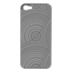 Circular Brushed Metal Bump Grey Apple Iphone 5 Case (silver)