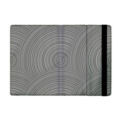Circular Brushed Metal Bump Grey Apple Ipad Mini Flip Case by Alisyart