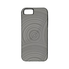 Circular Brushed Metal Bump Grey Apple Iphone 5 Classic Hardshell Case (pc+silicone) by Alisyart
