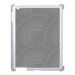 Circular Brushed Metal Bump Grey Apple Ipad 3/4 Case (white)