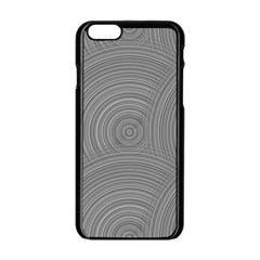 Circular Brushed Metal Bump Grey Apple Iphone 6/6s Black Enamel Case by Alisyart