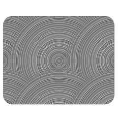 Circular Brushed Metal Bump Grey Double Sided Flano Blanket (medium)  by Alisyart