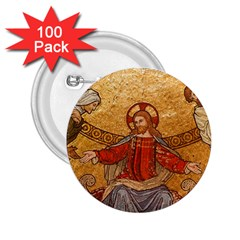 Gold Jesus 2 25  Buttons (100 Pack)  by boho