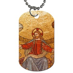 Gold Jesus Dog Tag (one Side) by boho