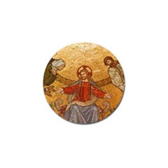 Gold Jesus Golf Ball Marker (4 Pack) by boho