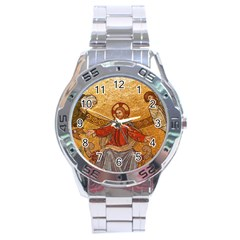 Gold Jesus Stainless Steel Analogue Watch by boho