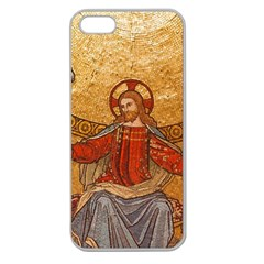 Gold Jesus Apple Seamless Iphone 5 Case (clear) by boho