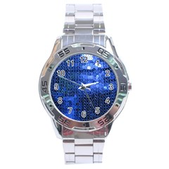 Blue Sequins Stainless Steel Analogue Watch by boho