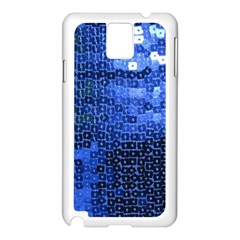 Blue Sequins Samsung Galaxy Note 3 N9005 Case (white) by boho