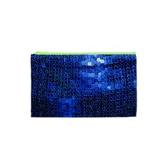 Blue Sequins Cosmetic Bag (xs) by boho