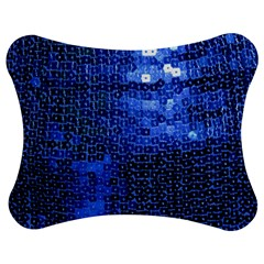 Blue Sequins Jigsaw Puzzle Photo Stand (bow) by boho